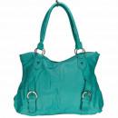 Großhandel Handtaschen: Modische Handtasche Betty, Türkis