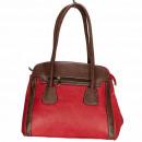 Großhandel Handtaschen: Modische Handtasche Ilka, Rot/Braun