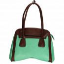 Großhandel Handtaschen: Modische Handtasche Ilka, Mint/Braun