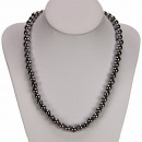 wholesale Jewelry & Watches: Magnetic bead necklace stainless steel finish, 8mm