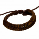 Leren armband, bruin