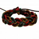 Leren armband, gekleurde