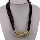 Cobre cinturón de cadena multi-hilo, oro y plata