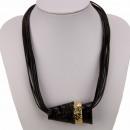 Multi-hilo de cobre cinturón de cadena, oro y negr