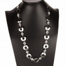 wholesale Belts: Long Fashion Necklace / Belt, Silver
