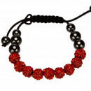 groothandel Armbanden: Macht armband, 10mm, rood