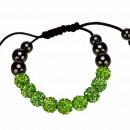 Macht armband, 10mm, groen