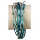 30teiliger armbanden, blauw-zilver