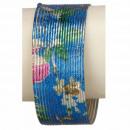 Armband spiraal, blauw-gekleurd