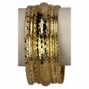 5-delige Armreifenset, Gold