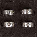 grossiste Bijoux & Montres: Anneau en acier  inoxydable avec pierre