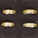 Edelstahlring Cateye, Gold