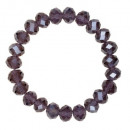wholesale Drinking Glasses: Bracelet with Glass Beads, Purple