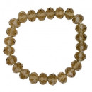 wholesale Drinking Glasses: Bracelet with Glass Beads, Brown