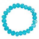 Armband met glaskralen, Blauw
