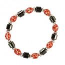 Großhandel Armbänder: Magnetarmband Flower, rot
