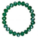 wholesale Drinking Glasses: Bracelet with Glass Beads, Green
