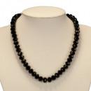 ingrosso Catenine: Collana con perle di vetro, Nero