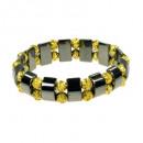 Hematiet armband goud
