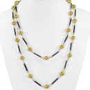 wholesale Necklaces: Long pearl necklace, gold