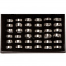 grossiste Anneaux et bagues: 36 anneaux en  acier inoxydable, Design2
