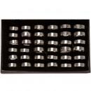 36 anelli in  acciaio inox, design 2