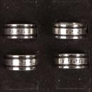 Grote roestvrij stalen ring met motieven