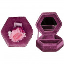 wholesale Jewelry Storage: Hexagon jewelry box, Lilac