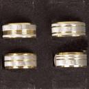 Großhandel Ringe: Edelstahlring Big Sand mit Stein, Gold