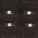 Großhandel Ringe: Edelstahlring mit Stein, Silber