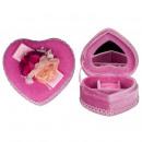 groothandel Spiegels: Hart juwelen kistje, Pink