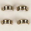 Roestvrij stalen ring koepelvormige zilver-goud