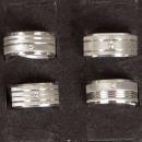Big Sand RVS ring met steen, zilver