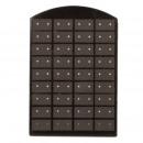 mayorista Joyas y relojes: Plastic soporte  Pendiente, 36 pares Negro