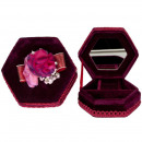 mayorista Joyeros - cajas y expositores joyas y bisutería: Caja de joyería de Hexagon, rojo