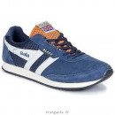 wholesale Shoes: GOLA FOOTWEAR  SUEDE NAVY WHITE ORANGE BLADE