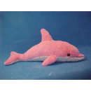 wholesale Toys: Plush dolphin, pink, 42 ​​cm