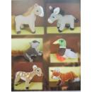 Großhandel Spielzeug: Stehende Farm-&Waldtiere, 15 cm, 6 fach ...