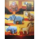 wholesale Dolls &Plush: Standing safari animals, 15 cm, 6 assorted