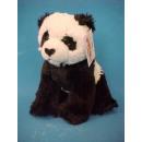 Zitten zwart en  wit Pluche Panda, 18 cm