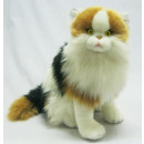 Calico cat, sitting, 30 cm