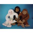groothandel Speelgoed: Hangende apen, 3 geassorteerd , 32 cm