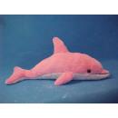 wholesale Toys: Plush dolphin, pink, 56 cm