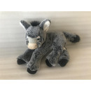wholesale Dolls &Plush: Lying gray / white donkey, 23 cm
