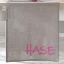 Ostern Heimtextilien Tischläufer grau pink Leinen