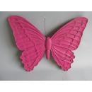 Sonderposten Dekoration Schmetterling pink