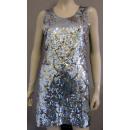 Fasching Karnveval Kleid Paillettenkleid Disco M