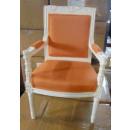 Impressionen Kinderstuhl barock weiß orange