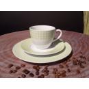 Kaffeeservice Porzellan grün weiß von Mäster