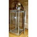 Laterne Windlicht silber Metall Glas Impressionen